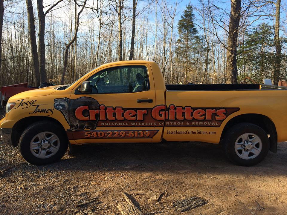 Critter Gitters Truck - Watch For Us On The Road! Fantastic Logo