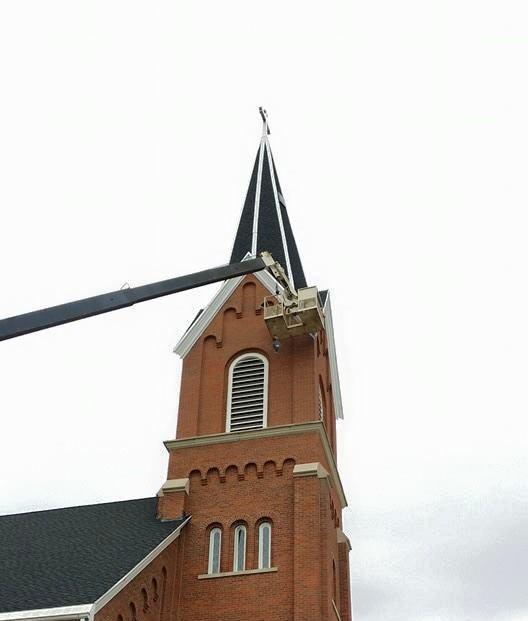 C.R.N.A.C. LLC. Wildlife and Pest Management removes bats from a church